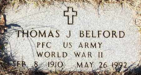 BELFORD (VETERAN WWII), THOMAS J - White County, Arkansas | THOMAS J BELFORD (VETERAN WWII) - Arkansas Gravestone Photos