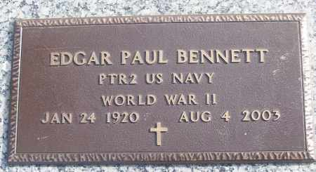 BENNETT (VETERAN WWII), EDGAR PAUL - White County, Arkansas | EDGAR PAUL BENNETT (VETERAN WWII) - Arkansas Gravestone Photos