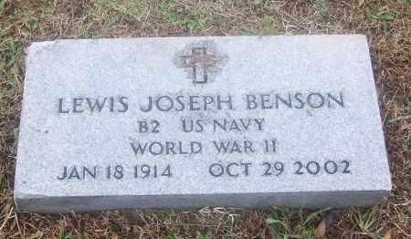 BENSON  (VETERAN WWII), LEWIS JOSEPH - White County, Arkansas | LEWIS JOSEPH BENSON  (VETERAN WWII) - Arkansas Gravestone Photos