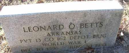 BETTS (VETERAN WWI), LEONARD O - White County, Arkansas | LEONARD O BETTS (VETERAN WWI) - Arkansas Gravestone Photos