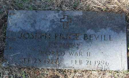BEVILL (VETERAN WWII), JOSEPH PRICE - White County, Arkansas | JOSEPH PRICE BEVILL (VETERAN WWII) - Arkansas Gravestone Photos