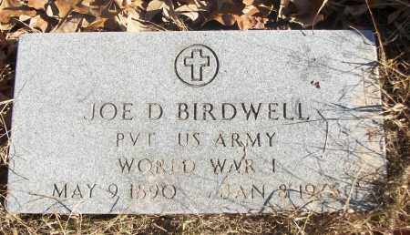 BIRDWELL (VETERAN WWI), JOE D - White County, Arkansas | JOE D BIRDWELL (VETERAN WWI) - Arkansas Gravestone Photos