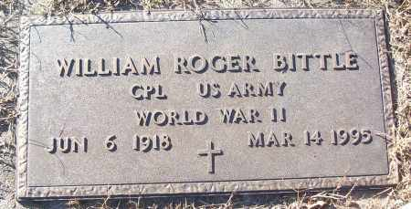 BITTLE (VETERAN WWII), WILLIAM ROGER - White County, Arkansas | WILLIAM ROGER BITTLE (VETERAN WWII) - Arkansas Gravestone Photos