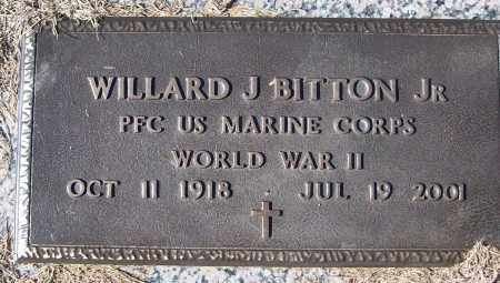 BITTON, JR (VETERAN WWII), WILLARD J - White County, Arkansas | WILLARD J BITTON, JR (VETERAN WWII) - Arkansas Gravestone Photos