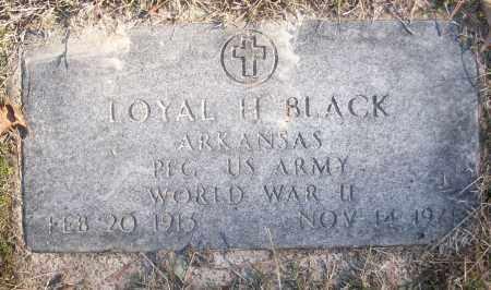BLACK (VETERAN WWII), LOYAL H - White County, Arkansas | LOYAL H BLACK (VETERAN WWII) - Arkansas Gravestone Photos