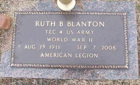 BLANTON (VETERAN WWII), RUTH B - White County, Arkansas | RUTH B BLANTON (VETERAN WWII) - Arkansas Gravestone Photos