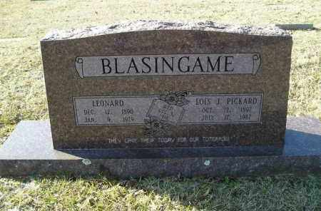 PICKARD BLASINGAME, LOIS J - White County, Arkansas | LOIS J PICKARD BLASINGAME - Arkansas Gravestone Photos
