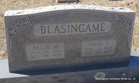 BLASINGAME, DAVID ALEXANDER - White County, Arkansas | DAVID ALEXANDER BLASINGAME - Arkansas Gravestone Photos