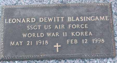 BLASINGAME (VETERAN 2 WARS), LEONARD DEWITT - White County, Arkansas | LEONARD DEWITT BLASINGAME (VETERAN 2 WARS) - Arkansas Gravestone Photos