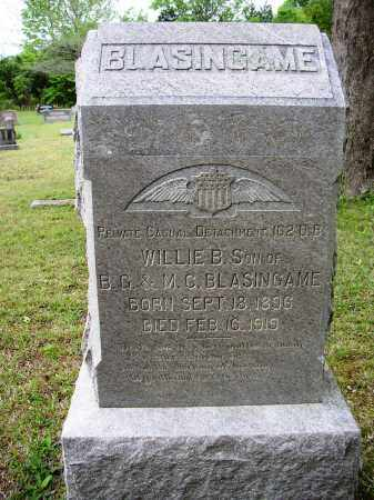 BLASINGAME (VETERAN WWI), WILLIE B. - White County, Arkansas | WILLIE B. BLASINGAME (VETERAN WWI) - Arkansas Gravestone Photos