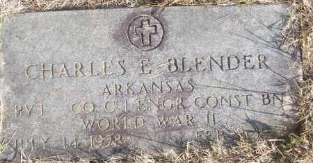 BLENDER (VETERAN WWII), CHARLES E - White County, Arkansas | CHARLES E BLENDER (VETERAN WWII) - Arkansas Gravestone Photos