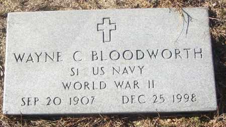 BLOODWORTH  (VETERAN WWII), WAYNE C - White County, Arkansas | WAYNE C BLOODWORTH  (VETERAN WWII) - Arkansas Gravestone Photos