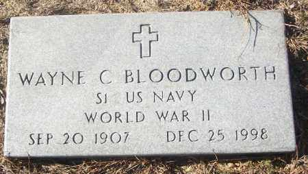 BLOODWORTH  (VETERAN WWII), WAYNE C - White County, Arkansas | WAYNE C BLOODWORTH  (VETERAN WWII) - Arkansas Gravestone Photos