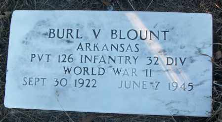 BLOUNT (VETERAN WWII), BURL V - White County, Arkansas | BURL V BLOUNT (VETERAN WWII) - Arkansas Gravestone Photos