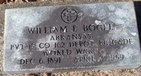 BOGLE (VETERAN WWI), WILLIAM E - White County, Arkansas | WILLIAM E BOGLE (VETERAN WWI) - Arkansas Gravestone Photos