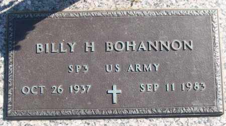 BOHANNON (VETERAN), BILLY H - White County, Arkansas | BILLY H BOHANNON (VETERAN) - Arkansas Gravestone Photos
