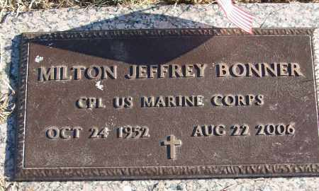 BONNER (VETERAN), MILTON JEFFREY - White County, Arkansas | MILTON JEFFREY BONNER (VETERAN) - Arkansas Gravestone Photos