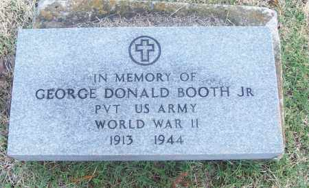 BOOTH, JR  (VETERAN WWII), GEORGE DONALD - White County, Arkansas | GEORGE DONALD BOOTH, JR  (VETERAN WWII) - Arkansas Gravestone Photos