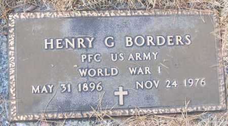 BORDERS (VETERAN WWI), HENRY G - White County, Arkansas | HENRY G BORDERS (VETERAN WWI) - Arkansas Gravestone Photos