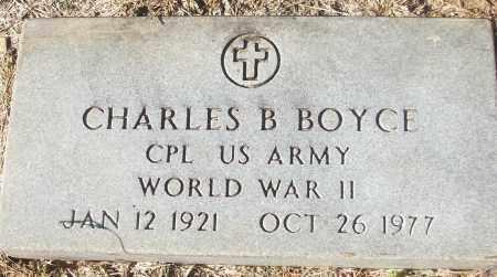 BOYCE (VETERAN WWII), CHARLES B - White County, Arkansas | CHARLES B BOYCE (VETERAN WWII) - Arkansas Gravestone Photos