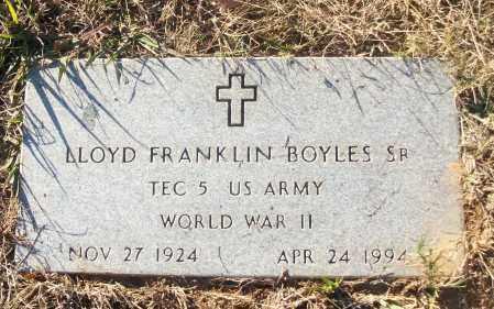 BOYLES, SR (VETERAN WWII), LLOYD FRANKLIN - White County, Arkansas | LLOYD FRANKLIN BOYLES, SR (VETERAN WWII) - Arkansas Gravestone Photos