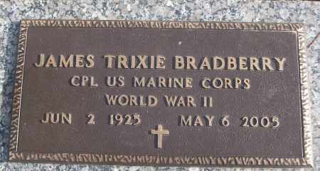 BRADBERRY (VETERAN WWII), JAMES TRIXIE - White County, Arkansas | JAMES TRIXIE BRADBERRY (VETERAN WWII) - Arkansas Gravestone Photos