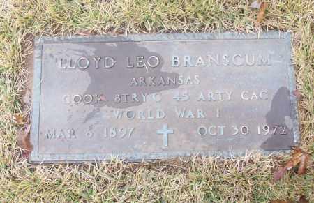 BRANSCUM  (VETERAN WWI), LLOYD LEO - White County, Arkansas | LLOYD LEO BRANSCUM  (VETERAN WWI) - Arkansas Gravestone Photos
