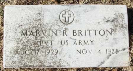 BRITTON (VETERAN), MARVIN R - White County, Arkansas | MARVIN R BRITTON (VETERAN) - Arkansas Gravestone Photos