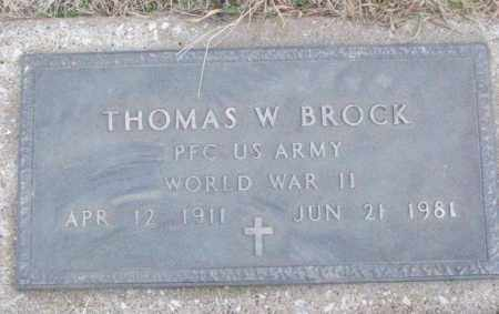 BROCK (VETERAN WWII), THOMAS W - White County, Arkansas | THOMAS W BROCK (VETERAN WWII) - Arkansas Gravestone Photos