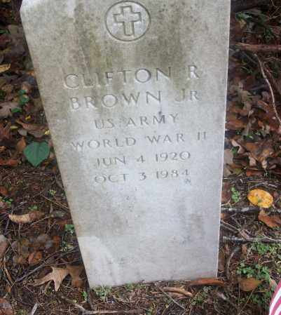 BROWN,  JR  (VETERAN WWII), CLIFTON R - White County, Arkansas | CLIFTON R BROWN,  JR  (VETERAN WWII) - Arkansas Gravestone Photos