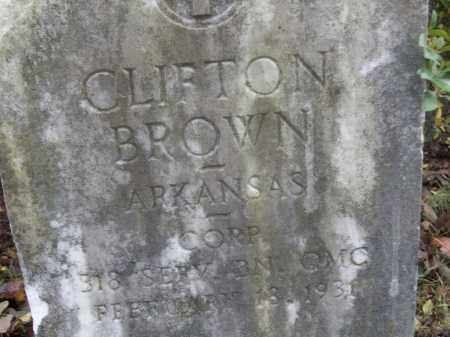 BROWN  (VETERAN WWI), CLIFTON - White County, Arkansas | CLIFTON BROWN  (VETERAN WWI) - Arkansas Gravestone Photos