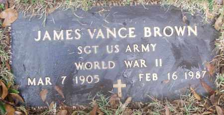BROWN  (VETERAN WWII), JAMES VANCE - White County, Arkansas | JAMES VANCE BROWN  (VETERAN WWII) - Arkansas Gravestone Photos