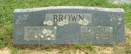 BROWN, SPURGEON H - White County, Arkansas | SPURGEON H BROWN - Arkansas Gravestone Photos