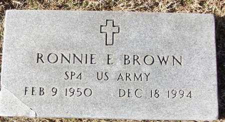 BROWN (VETERAN), RONNIE E - White County, Arkansas | RONNIE E BROWN (VETERAN) - Arkansas Gravestone Photos