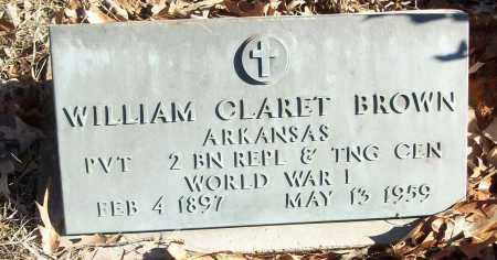 BROWN (VETERAN WWI), WILLIAM CLARET - White County, Arkansas | WILLIAM CLARET BROWN (VETERAN WWI) - Arkansas Gravestone Photos