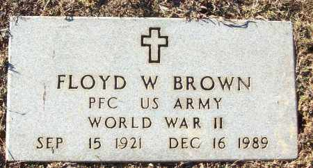 BROWN VETERAN WWII), FLOYD W - White County, Arkansas | FLOYD W BROWN VETERAN WWII) - Arkansas Gravestone Photos