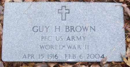 BROWN (VETERAN WWII), GUY H - White County, Arkansas | GUY H BROWN (VETERAN WWII) - Arkansas Gravestone Photos