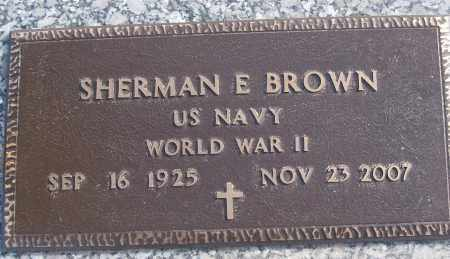 BROWN (VETERAN WWII), SHERMAN E - White County, Arkansas | SHERMAN E BROWN (VETERAN WWII) - Arkansas Gravestone Photos