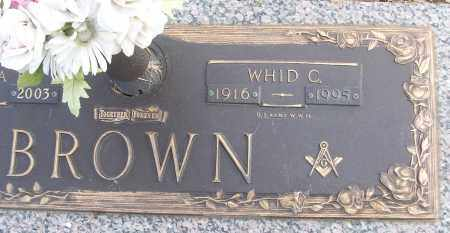 BROWN (VETERAN WWII), WHID C - White County, Arkansas | WHID C BROWN (VETERAN WWII) - Arkansas Gravestone Photos