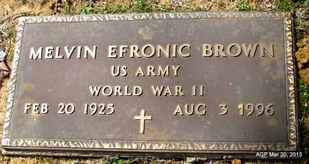 BROWN (VETERAN WWII), MELVIN EFRONIC - White County, Arkansas | MELVIN EFRONIC BROWN (VETERAN WWII) - Arkansas Gravestone Photos