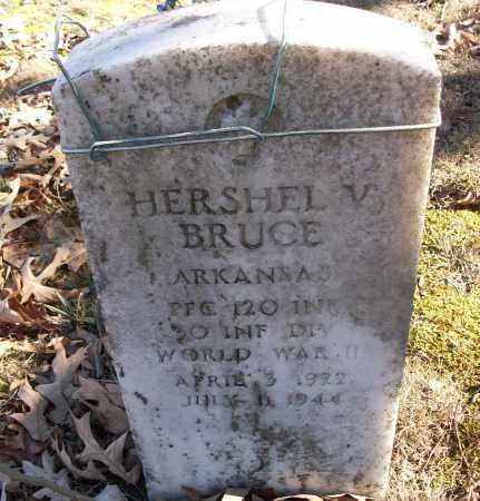 BRUCE (VETERAN WWII), HERSHEL V - White County, Arkansas | HERSHEL V BRUCE (VETERAN WWII) - Arkansas Gravestone Photos