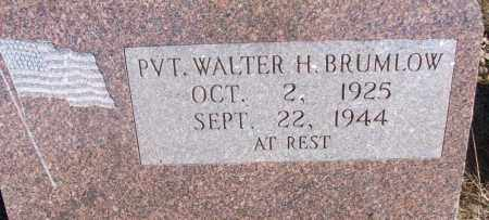 BRUMLOW (VETERAN), WALTER - White County, Arkansas | WALTER BRUMLOW (VETERAN) - Arkansas Gravestone Photos