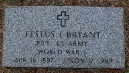 BRYANT (VETERAN WWI), FESTUS I - White County, Arkansas | FESTUS I BRYANT (VETERAN WWI) - Arkansas Gravestone Photos