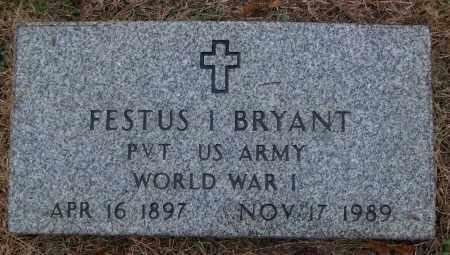 BRYANT (VETERAN WWI), FESTUS I - White County, Arkansas | FESTUS I BRYANT (VETERAN WWI) - Arkansas Gravestone Photos