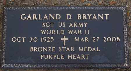 BRYANT (VETERAN WWII), GARLAND D - White County, Arkansas | GARLAND D BRYANT (VETERAN WWII) - Arkansas Gravestone Photos