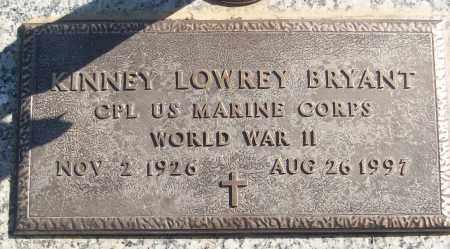 BRYANT (VETERAN WWII), KINNEY LOWREY - White County, Arkansas | KINNEY LOWREY BRYANT (VETERAN WWII) - Arkansas Gravestone Photos