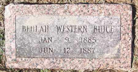WESTERN BRUCE, BEULAH - White County, Arkansas | BEULAH WESTERN BRUCE - Arkansas Gravestone Photos