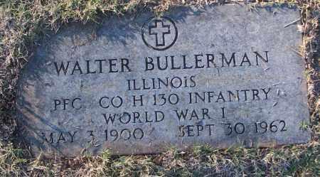 BULLERMAN (VETERAN WWI), WALTER - White County, Arkansas | WALTER BULLERMAN (VETERAN WWI) - Arkansas Gravestone Photos