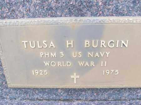 BURGIN  (VETERAN WWII), TULSA H - White County, Arkansas | TULSA H BURGIN  (VETERAN WWII) - Arkansas Gravestone Photos