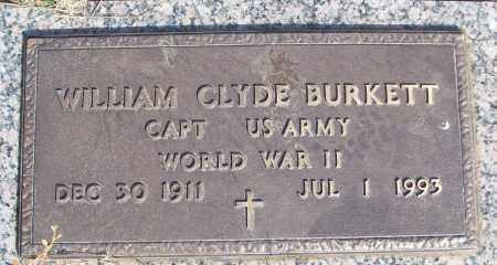 BURKETT (VETERAN WWII), WILLIAM CLYDE - White County, Arkansas | WILLIAM CLYDE BURKETT (VETERAN WWII) - Arkansas Gravestone Photos